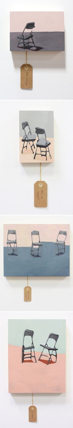 chair paintings by lucia dill