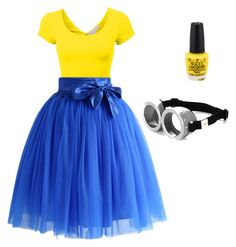 """""""Minion themed outfit!"""" by justlikeindia on Polyvore"""