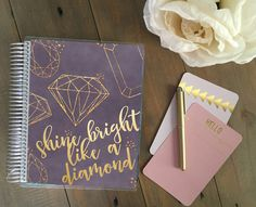 NEW planner cover for Erin Condren and other planner types by Stylish Planner on Etsy! https://www.etsy.com/listing/270723079/erin-condren-cover-plum-planner-or-happy