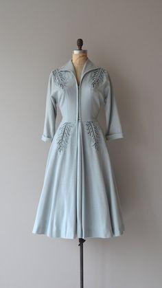 Valhalla wool dress vintage 1950s dress wool 50s by DearGolden