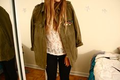 Army jacket bling