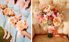 Peach bouquets