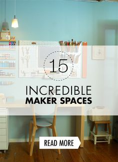 Maker Spaces: 15 Incredible Studios, Shops, and Craft Rooms Maker Spaces: 15 Incredible Studios, Shops, and Craft Rooms Cultura Maker, All People Quilt, Maker Labs, Pegboard Organization, Innovation Lab, Learning Spaces, Media Center, Craft Rooms, Computer Lab