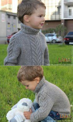 Бесшовный свитер с рукавом-погоном для мальчика.Мастер класс.