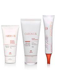 Sistema de Clareamento Chronos - Esfoliante Antissinais + Pharma Gel Clareador + Hydra Tonalizante