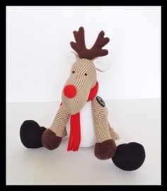 Plush Reindeer Stuffed Reindeer Christmas by LittleLuckies2, $55.00