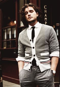 Um... his sweater's a little small, but... OH MY GOD JON SNOW.  <3