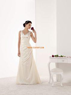 V-Ausschnitt Reiverschluss Natrlich Brautkleider 2014