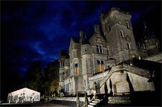 Kinnettles Castle at night
