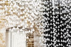 150cm Paper Cone Backdrop Wall Hanging, Weddings, Paper Garland, Event, Party, Wax Paper,