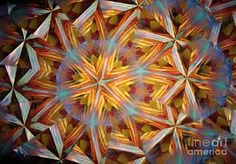 Print featuring the photograph Kaleidoscope Op4 by Equad Images