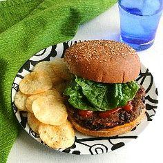 Kidney and Black Bean Burgers HealthyAperture.com