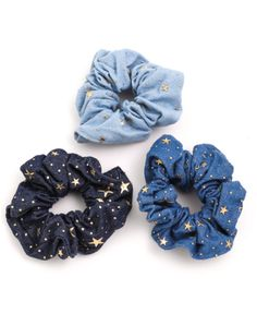 Wish Upon A Star Chambray Scrunchies - anita accesorios - Moda para Mujeres Jewelry Accessories, Fashion Accessories, Modelos Fashion, Accesorios Casual, Hair Ties, Girly Things, Headbands, Cute Outfits, Boho
