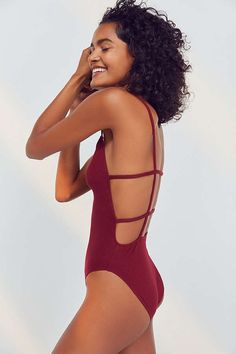 Slide View: 6: Out From Under Annie Strappy Back Bodysuit