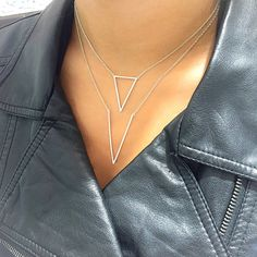 These Gabriel & Co. daring necklaces are beautiful and edgy. Along with the leather jacket, these 14k White Gold Diamond necklaces look absolutely gorgeous. You can always stack it up like these beautiful necklaces and make your look more edgy and trendy!