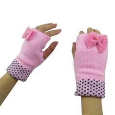 Sexy-Womens-Crochet-Knitted-Half-Finger-Gloves-Mitten-Warm-Wrist-Bow-Glove