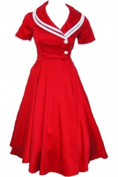 50's inspired dress  I LOVE this right now!