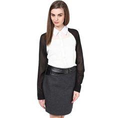White Black Shirt #onlineshopping http://goo.gl/9Gkm6v