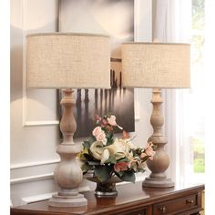 Shop for The Gray Barn Latte Grand Milk-washed Wooden Oversized Table Lamp. Get free delivery On EVERYTHING* Overstock - Your Online Lamps & Lamp Shades Store! Get in rewards with Club O! Tall Floor Lamps, Tall Table Lamps, Tall Lamps, Bedside Table Lamps, Bedroom Lamps, Blush Bedroom, Farmhouse Lamps, Foyer Decorating, Interior Decorating