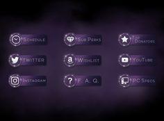 Twitch bio buttons for AnnieFuchsia