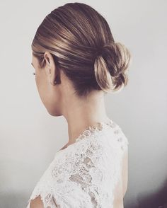 Consider these gorgeous hair styles for your next formal occasion | elegant low bun by 'KRISTIN ESS HAIR'