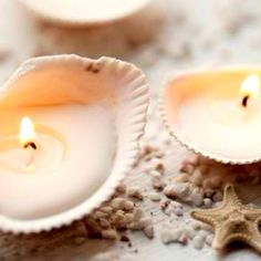 DIY Inspiration - candles in sea shells