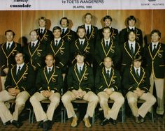 Springbok team 1976 vs All Blacks Pierre Edwards, South African Rugby, Back Row, All Blacks, Rugby Players, The Old Days, Pumas, African History, America