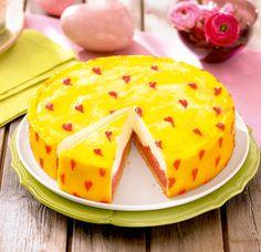 Rhabarber-Orangen-Torte Eine sahnige Torte mit Rhabarber und feiner Orangennote