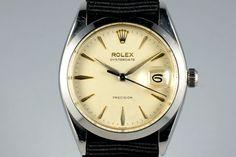 1960 Rolex OysterDate 6694 Cream Dial