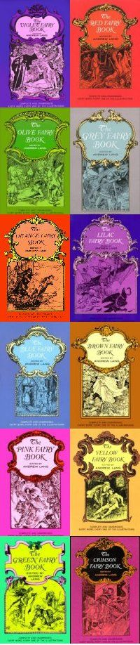 the Color Fairy Books by Andrew Lang