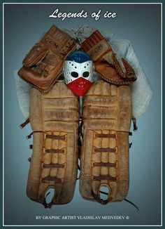Old goalie protection. #nhl #hockey