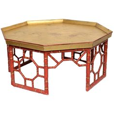 Faux Bamboo Table