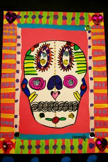 day of the dead day of the dead and halloween lessons pinterest art lessons elementary art and mexican art