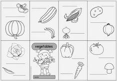 """Englisch in der Grundschule: Falthefte zum Englischthema """"vegetables"""""""