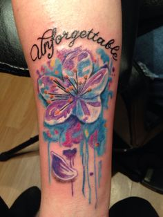My new tattoo that I got for my dad who was recently diagnosed with Alzheimer's Vascular Dementia.