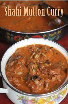 Shahi Mutton Curry Recipe - Mughlai Mutton Recipe - Yummy Tummy
