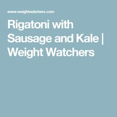 Learn how to make Rigatoni with turkey sausage and kale & see the Smartpoints value of this great recipe. Peas And Mushrooms Recipe, How To Cook Mushrooms, Stuffed Mushrooms, Stuffed Peppers, Kale Recipes, Mushroom Recipes, Great Recipes, Favorite Recipes, Dinner Recipes