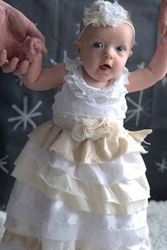 I am so going to make this for my baby girls' blessing dresses (no I'm not pregnant)   http://kojo-designs.com/2011/01/kojotutorial-winter-wonderland-baby-couture/