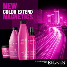 ... wash para cabelos coloridos color extend magnetics da redken see more