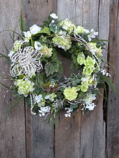 Spring Wreath Summer Wreath Front Door Wreath by KathysWreathShop, $97.99