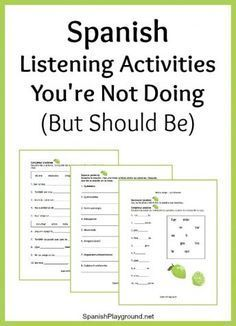 Spanish listening activities make the most of a video, song or story. Listening activities to focus on syllables, words and sentences before you start. Spanish Lessons For Kids, Spanish Basics, Spanish Lesson Plans, French Lessons, Spanish 1, Spanish Games, Spanish Pictures, Spanish Classroom Activities, Spanish Teaching Resources