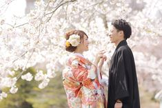 【春ロケ】桜の中での和装ロケーション♡