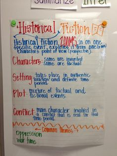 historical fiction anchor charts | Anchor Charts + Foldables / Life is Better Messy Anyway - Introducing ...