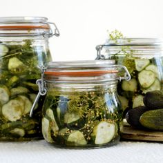 Pickles, Cucumber, God Mat, Mason Jars, Food And Drink, Meaningful Life, Conservation, Recipes, Party