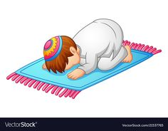 Little kid prostration for praying of muslim vector image on VectorStock Sheep Cartoon, Cartoon Kids, Girl Cartoon, Diy Christmas Fireplace, Islamic Cartoon, Islam For Kids, Muslim Family, Dark Wallpaper Iphone, Hijab Cartoon