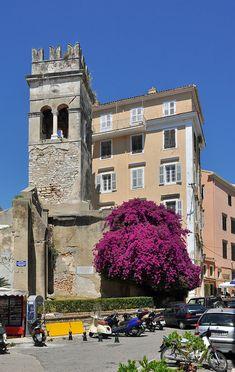 Old tower, Corfu town-Corfu island Patras, Corfu Town, Corfu Island, Site Archéologique, Empire Romain, Corfu Greece, Saint Jean, Crystal Clear Water, City Break