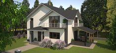 proiecte de casa cu parter si mansarda 3 Design Case, Home Fashion, House Design, Mansions, House Styles, Houses, Home Decor, Heaven, Modern Architecture
