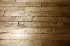 Floors from iron-on veneer strips