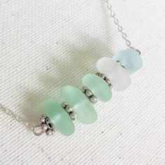 Seaglass stacker necklace
