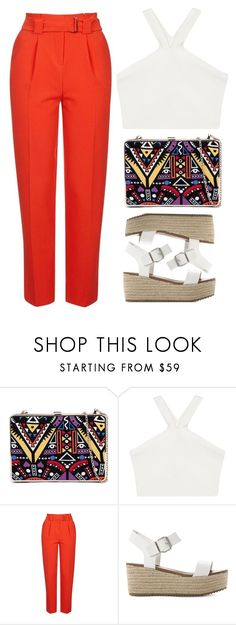 """Chic! ❤️"" by mel2016 ❤ liked on Polyvore featuring BCBGMAXAZRIA, Topshop and Steve Madden"